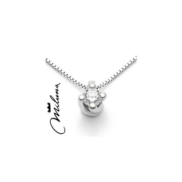 scarpe sportive 394c0 c429f Collana donna punto luce Miluna CLD3841_005S oro bianco diamanti