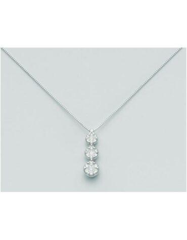 Collana donna trilogy Miluna CLD2397 oro bianco diamanti