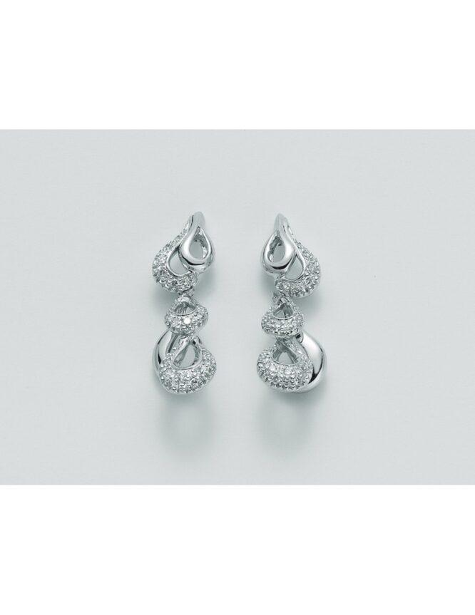 Orecchini donna Miluna ERD1067 oro bianco diamanti