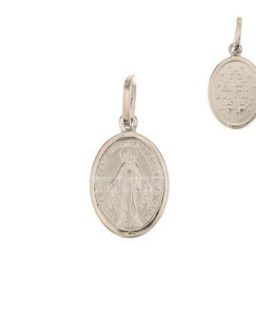 Ciondolo Madonna Miracolosa Oro Bianco ELO0203OREF