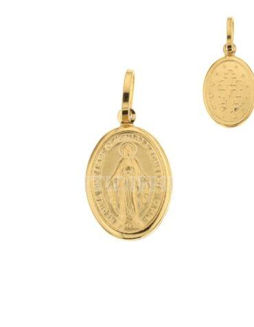 Ciondolo Madonna Miracolosa Oro Giallo ELO0204OREF
