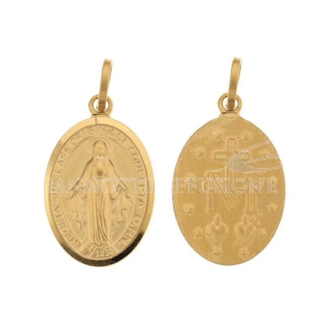 Ciondolo Madonna Miracolosa Oro Giallo ELO0205OREF
