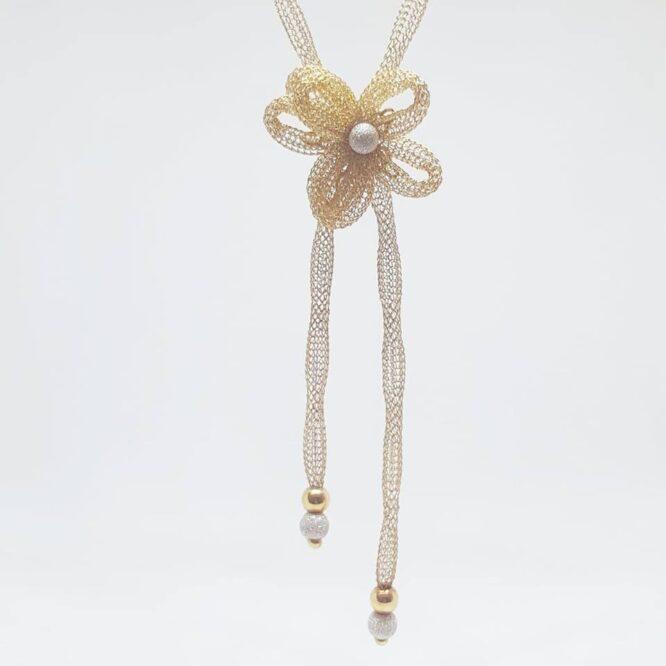 Collana Da Donna Fiore Filigrana Oro Giallo ELO216OREF