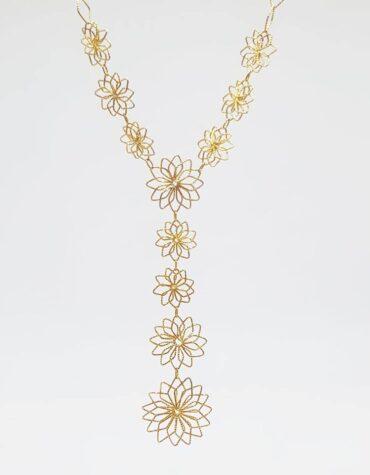 Collana Da Donna Fiori Oro Giallo ELO0215OREF