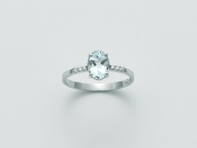 Anello Donna Miluna Acquamarina Diamanti LID3289