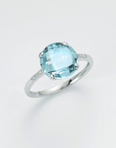 Anello Donna Miluna LID3351 Topazio Azzurro