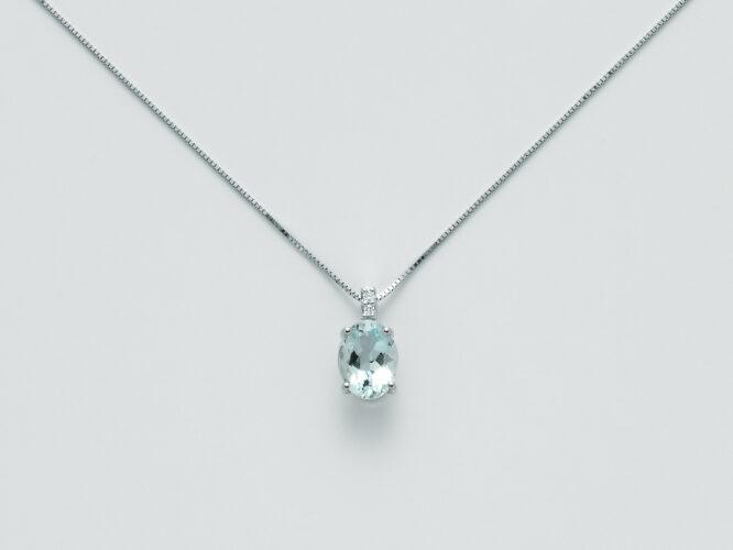 Collana Donna Miluna Acquamarina Diamanti CLD4135