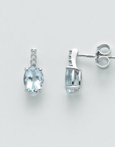 Orecchini Donna Miluna Acquamarina Diamanti ERD2410