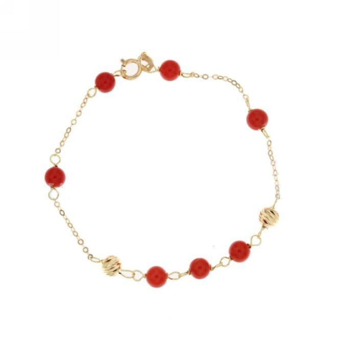 Bracciale Da Bimbo Corallo Rosso ELO0220OREF