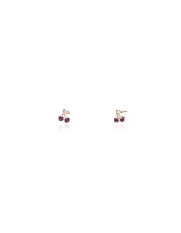 Orecchini Mabina Gioielli 563326 Ciliegie Rubini Sintetici