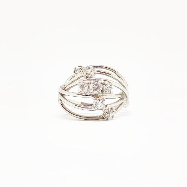 Anello Da Donna Fantasia Oro Bianco ELO0265OREF