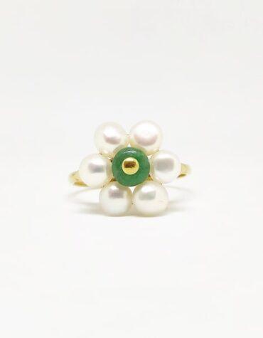 Anello Da Donna Fiore Perle Oro Giallo ELO0260OREF