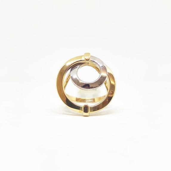 Anello Da Donna Oro Giallo E Bianco ELO0250OREF