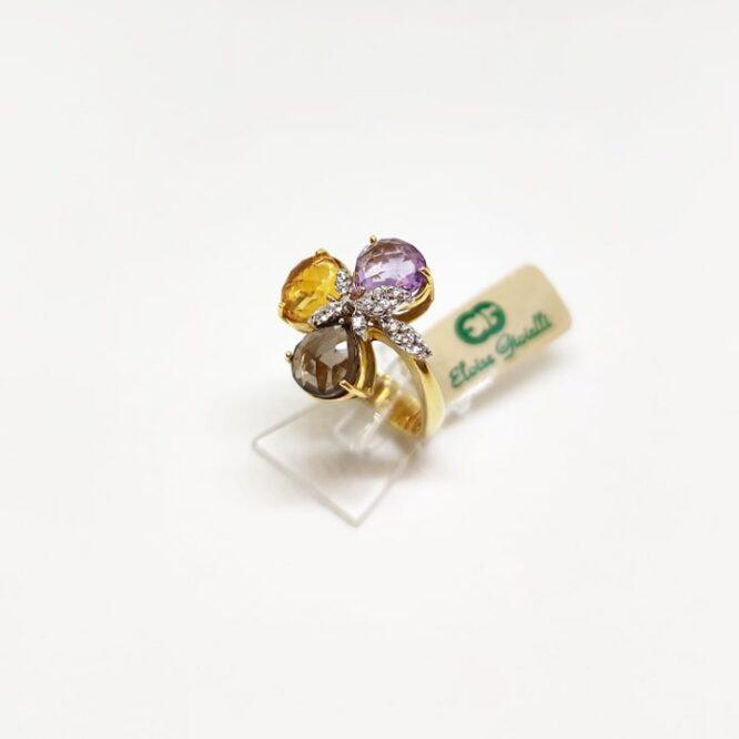 Anello Da Donna Petre Colorate Oro Giallo ELO0231OREF