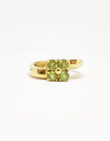 Anello Da Donna Pietre Verdi Oro Giallo ELO0245OREF