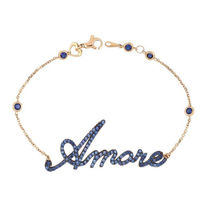 Bracciale Da Donna Amore Blue Oro Rosa ELO0330OREF