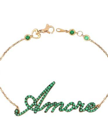 Bracciale Da Donna Amore Verde Oro Rosa ELO0329OREF