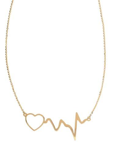 Collana Da Donna Battito Cardiaco Oro ELO0296OREF