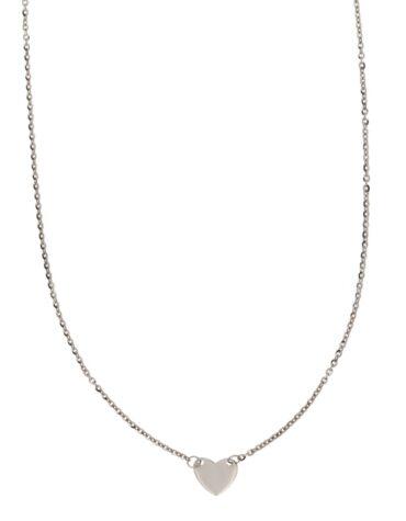 Collana Da Donna Cuore Oro Bianco ELO0310OREF