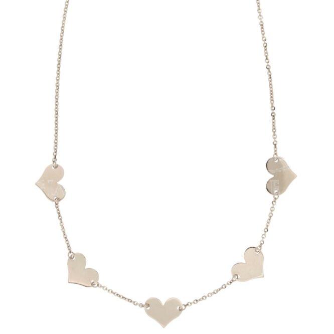 Collana Da Donna Cuori Oro Bianco ELO0298OREF
