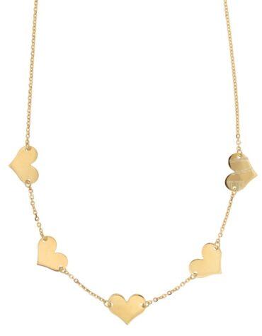 Collana Da Donna Cuori Oro Giallo ELO0299OREF