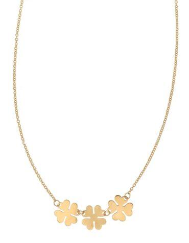 Collana Da Donna Quadrifogli Oro Giallo ELO0318OREF