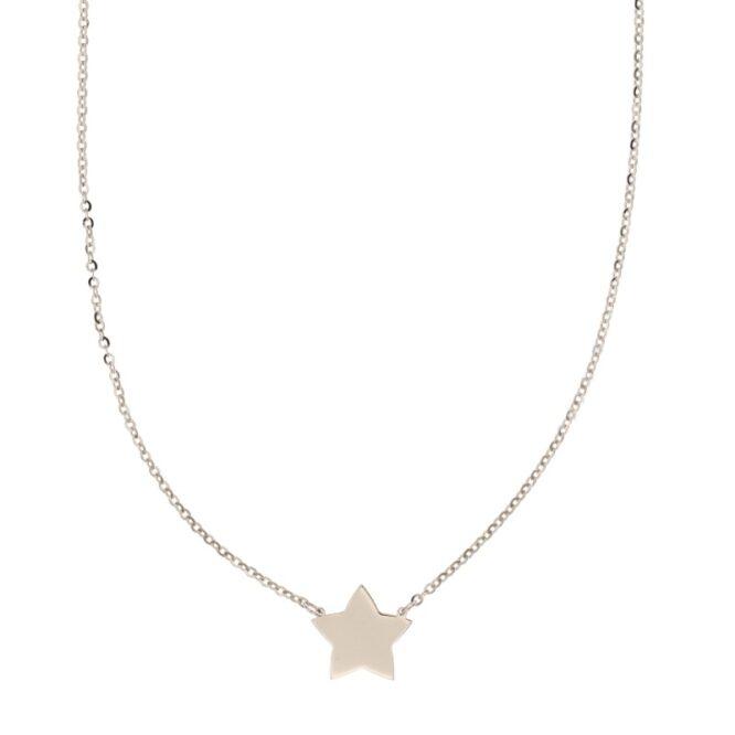 Collana Da Donna Stella Oro Bianco ELO0308OREF