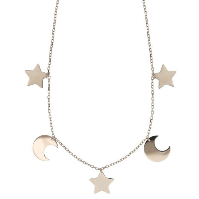 Collana Da Donna Stelle e Lune Oro ELO0311OREF