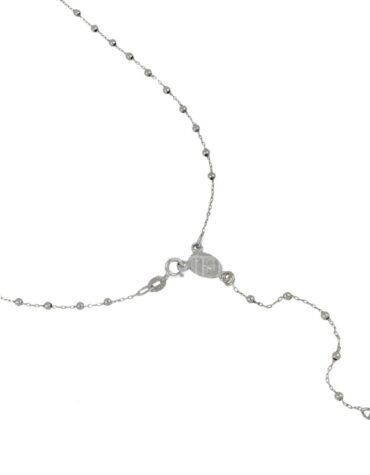 Collana Unisex Rosario Oro Bianco 45cm ELO0271OREF