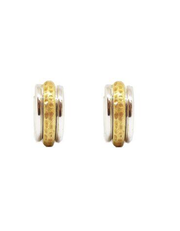Orecchini Da Donna Cerchi Oro Bicolore ELO0292OREF