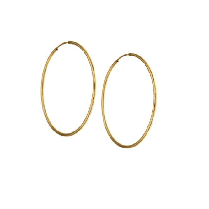 Orecchini da donna cerchi oro giallo ELO0285OREF