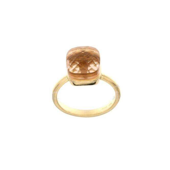 Anello Da Donna Nudo Ambra Oro Giallo ELO0384OREF