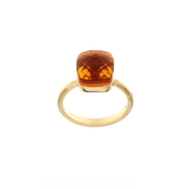 Anello Da Donna Nudo Arancio Oro Giallo ELO0388OREF