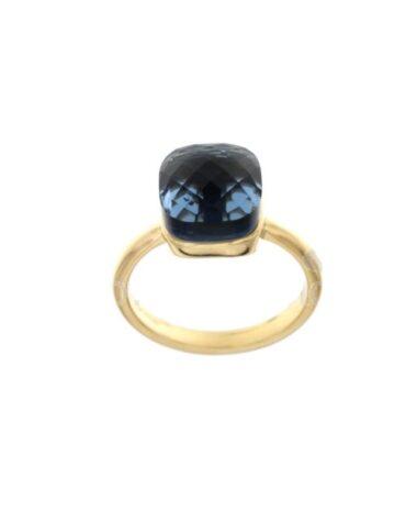 Anello Da Donna Nudo Blu Oro Giallo ELO0381OREF