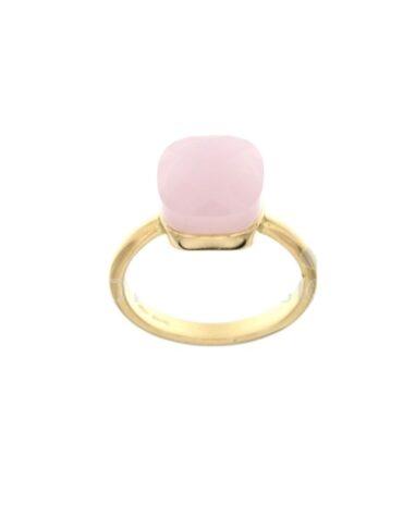 Anello Da Donna Nudo Rosa Oro Giallo ELO0385OREF