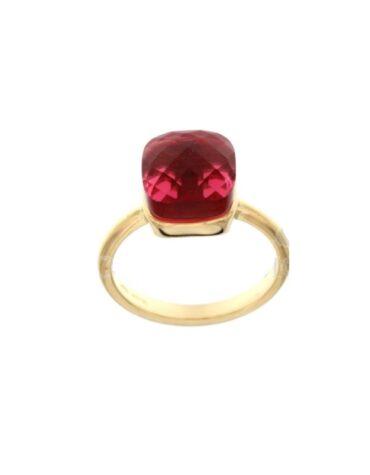Anello Da Donna Nudo Rosso Oro Giallo ELO0383OREF