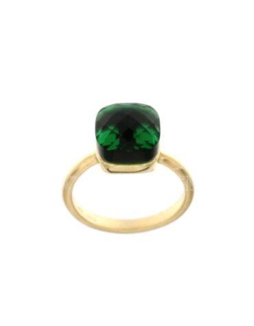 Anello Da Donna Nudo Verde Oro Giallo ELO0382OREF
