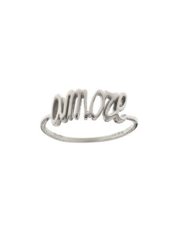 Anello Da Falange Amore Oro Bianco ELO0407OREF