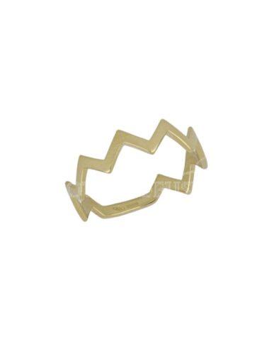 Anello Da Falange Chevron Oro Giallo ELO0408OREF