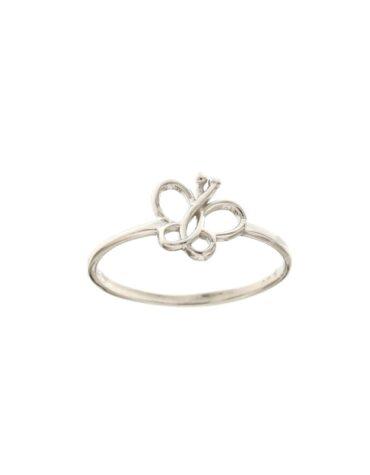 Anello Da Falange Farfalla Oro Bianco ELO0393OREF