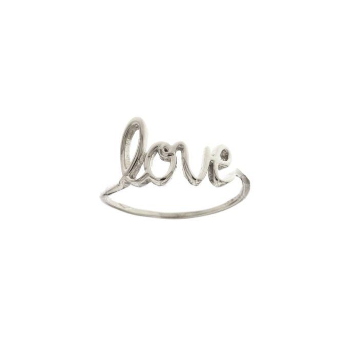 Anello Da Falange Love Oro Bianco ELO0402OREF