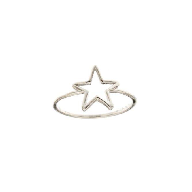 Anello Da Falange Stella Oro Bianco ELO0396OREF
