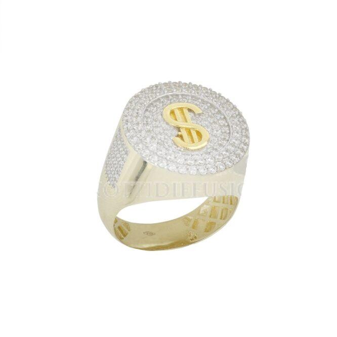 Anello Da Uomo Dollaro $ Oro Bianco ELO0432OREF