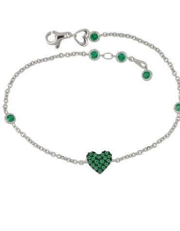 Bracciale Da Donna Cuore Verde Oro ELO0431OREF