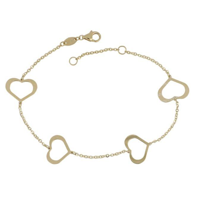 Bracciale Da Donna Cuori Oro Giallo ELO0355OREF