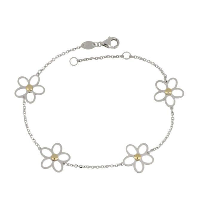 Bracciale Da Donna Fiore Oro Bianco ELO0344OREF