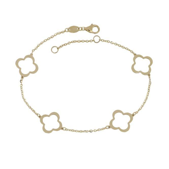 Bracciale Da Donna Quadrifoglio Oro Giallo ELO0349OREF