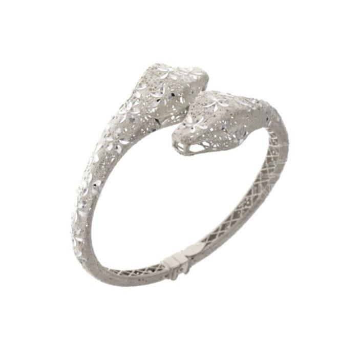 Bracciale Da Donna Serpente Oro Bianco ELO0427OREF