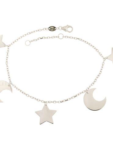Bracciale Da Donna Stelle e Lune Oro ELO0337OREF