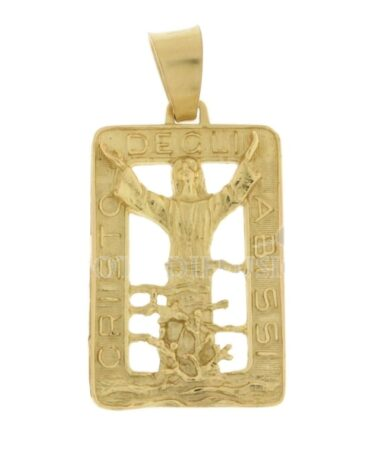 Ciondolo Cristo Degli Abissi Oro Giallo ELO0421OREF